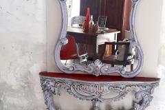 console e specchio veneziano